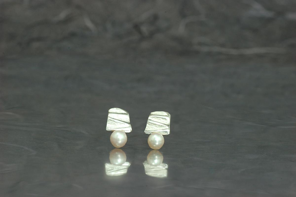 VIVALDI - Pendientes PP de presión con perla cultivada en agua dulce