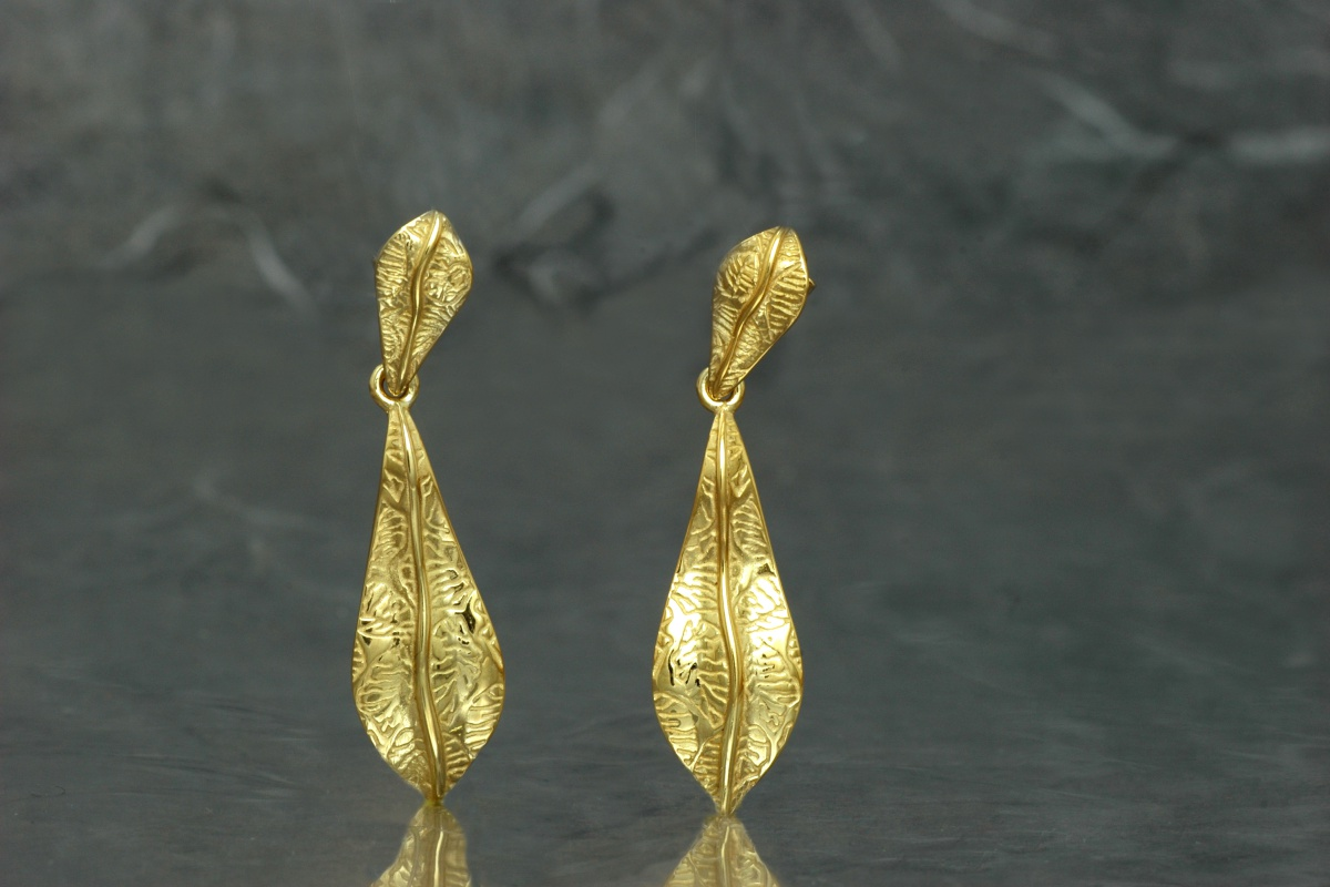 NATURA - Double Earrings G, gold plated