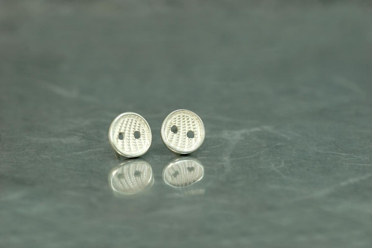 Pendientes presión en plata 925 y óxido de plata, P