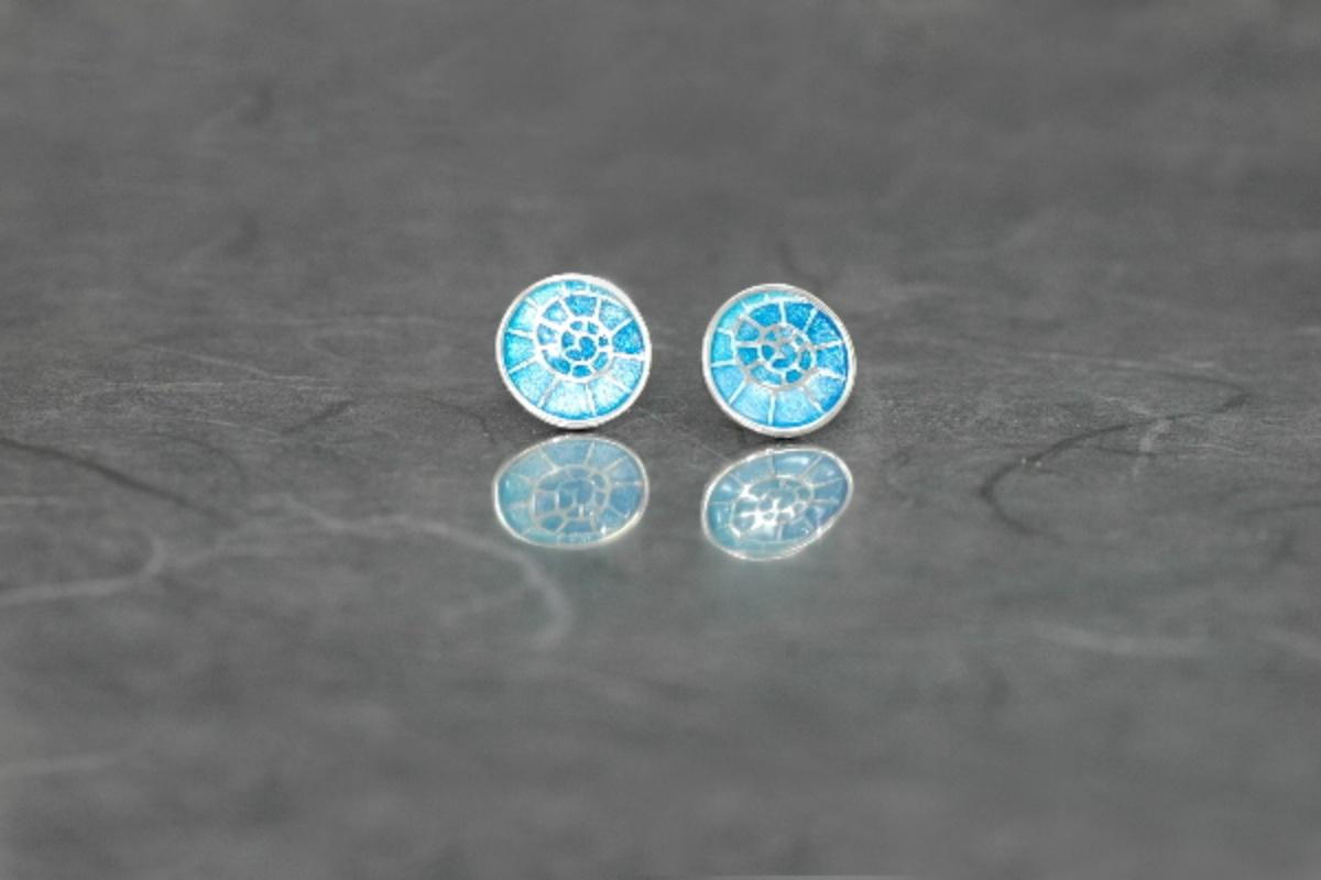 Fire enamel Stud Earrings PP