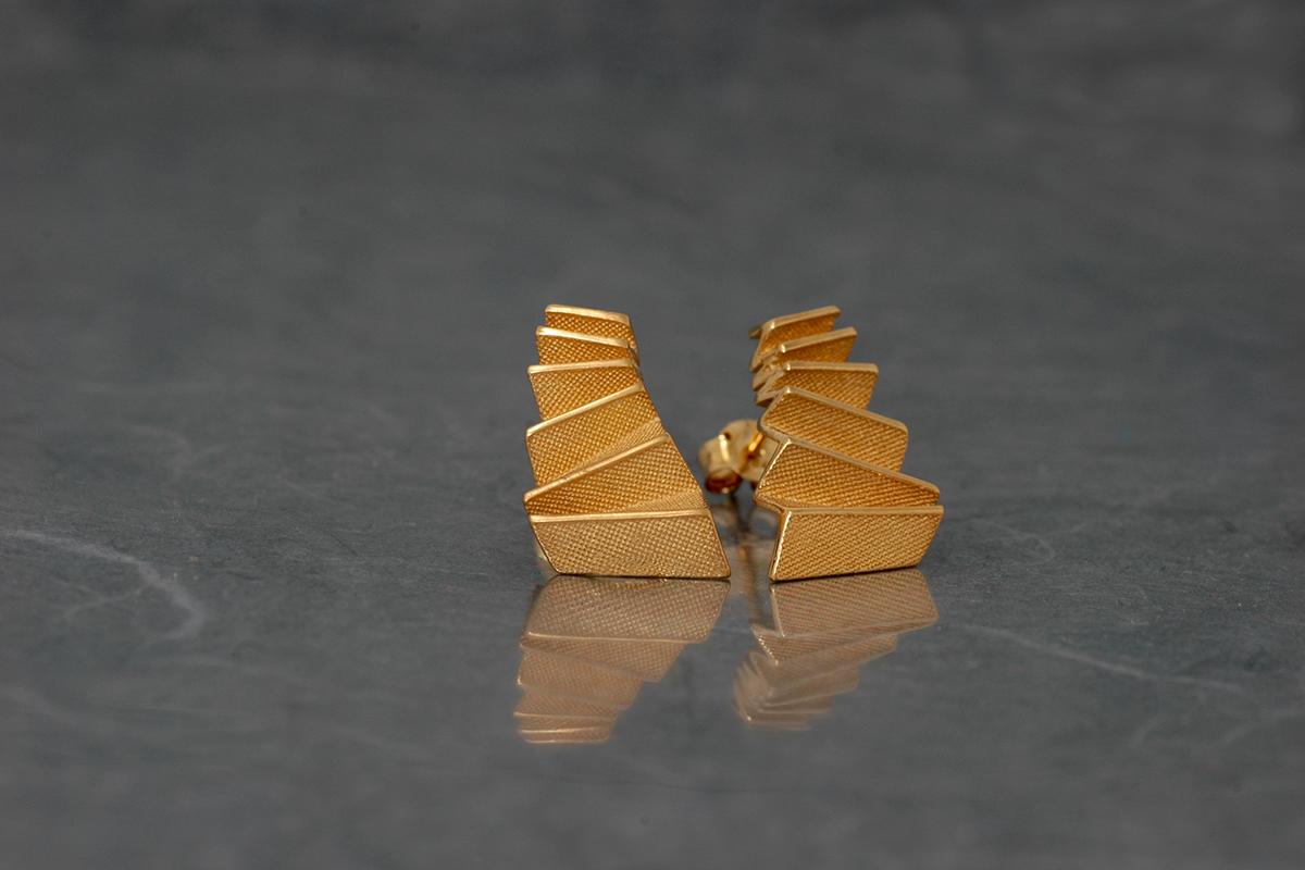 Origami - Pendiente M Chapado Presión (20x12mm)