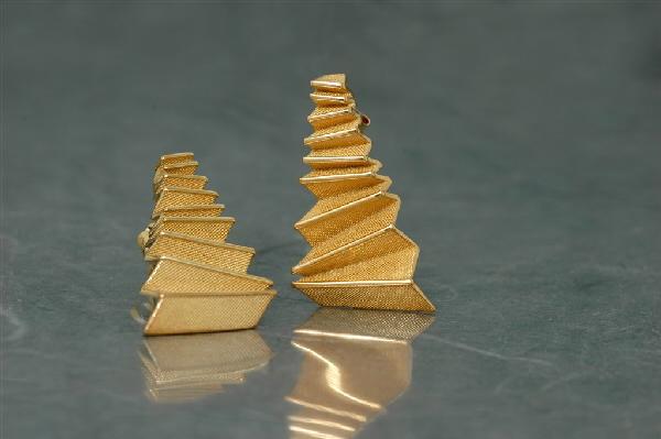 Origami - Pendiente G Chapado Presión (29x16mm)