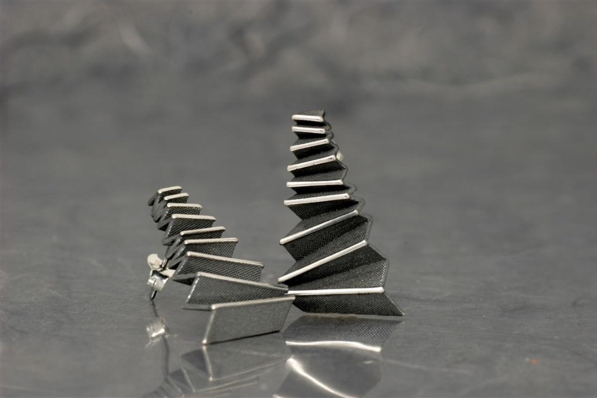 Origami - Pendiente G Óxido Presión (29x16mm)