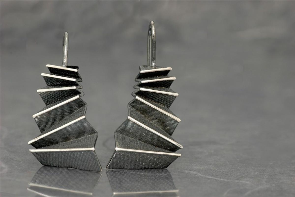 Origami - Pendiente SSG Óxido G.Fijo (18x28mm)