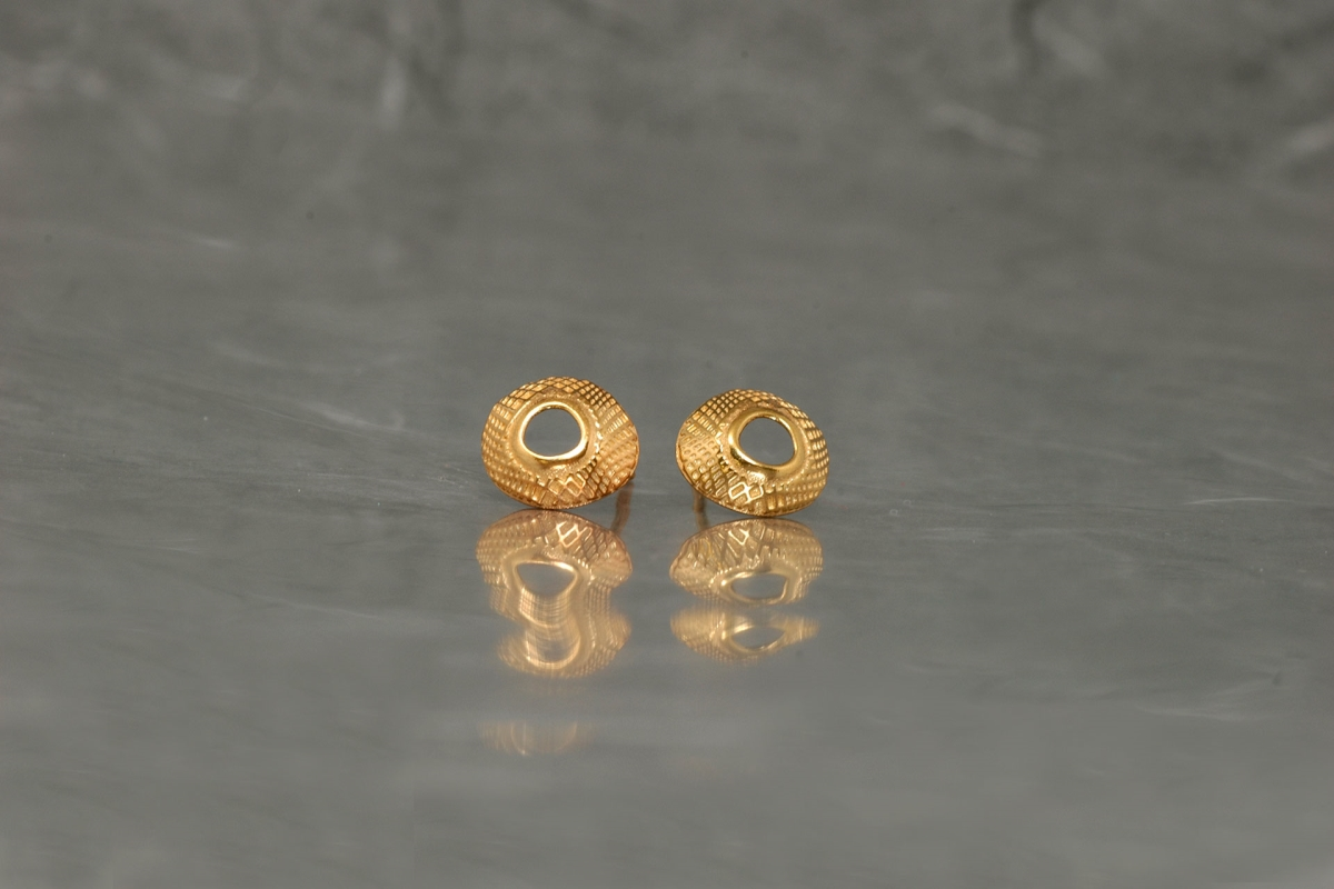 DUE - Stud Earrings ref.PP, gold plated - Galicia Calidade