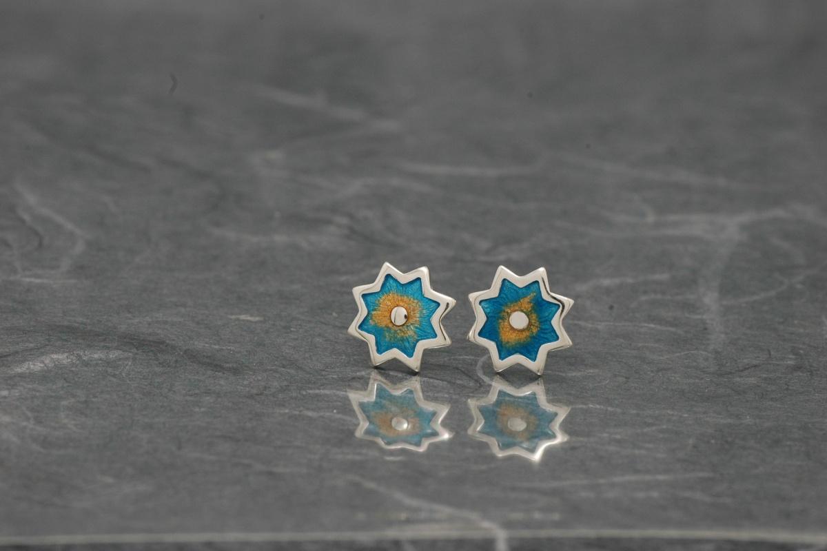 Alhambra 666 - Pendientes PP Ø 10mm Esmalte Presión