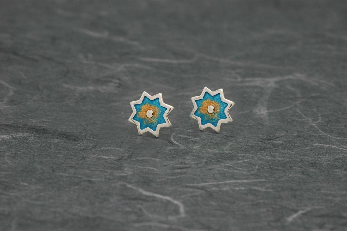Alhambra 666 - Pendientes P Ø 11mm Esmalte Presión