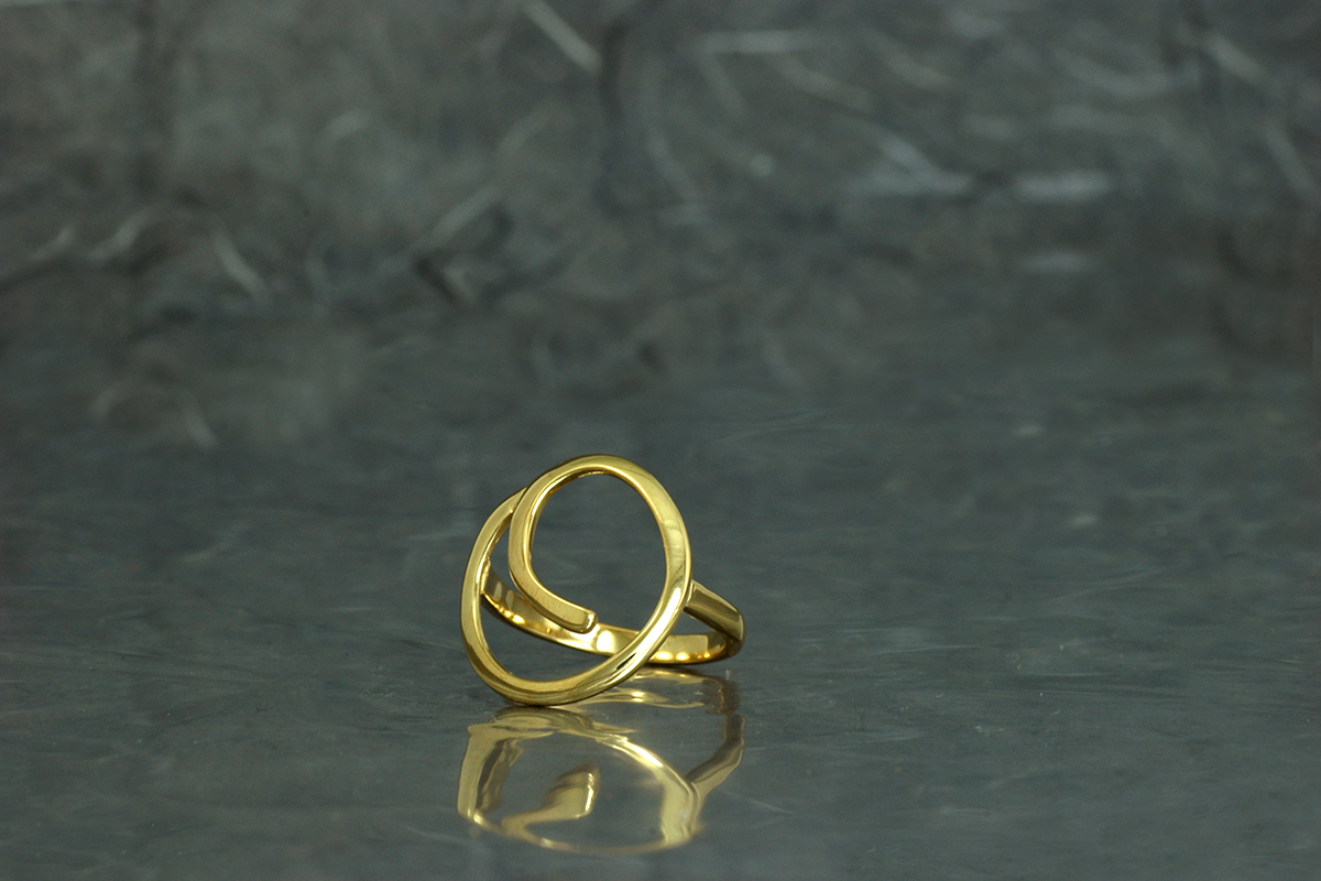 OH LALA - Ring ref.SSSG with gold plated finish