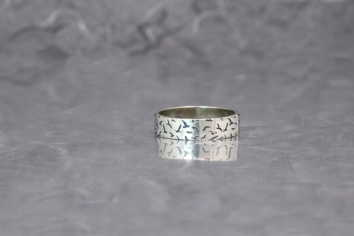 GAVIOTAS Oxidized Silver finished ring ref. SG