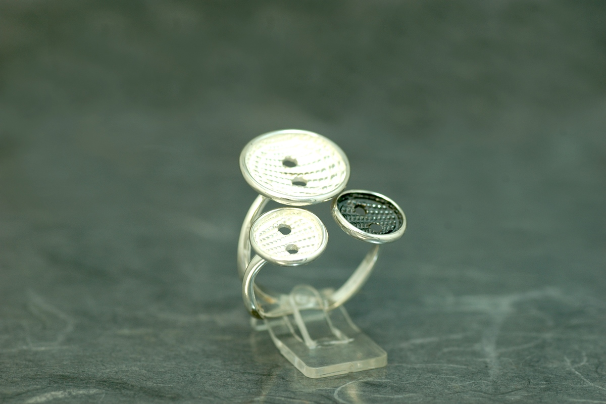 COUTURE - Ring ref.M, with oxidized silver finish