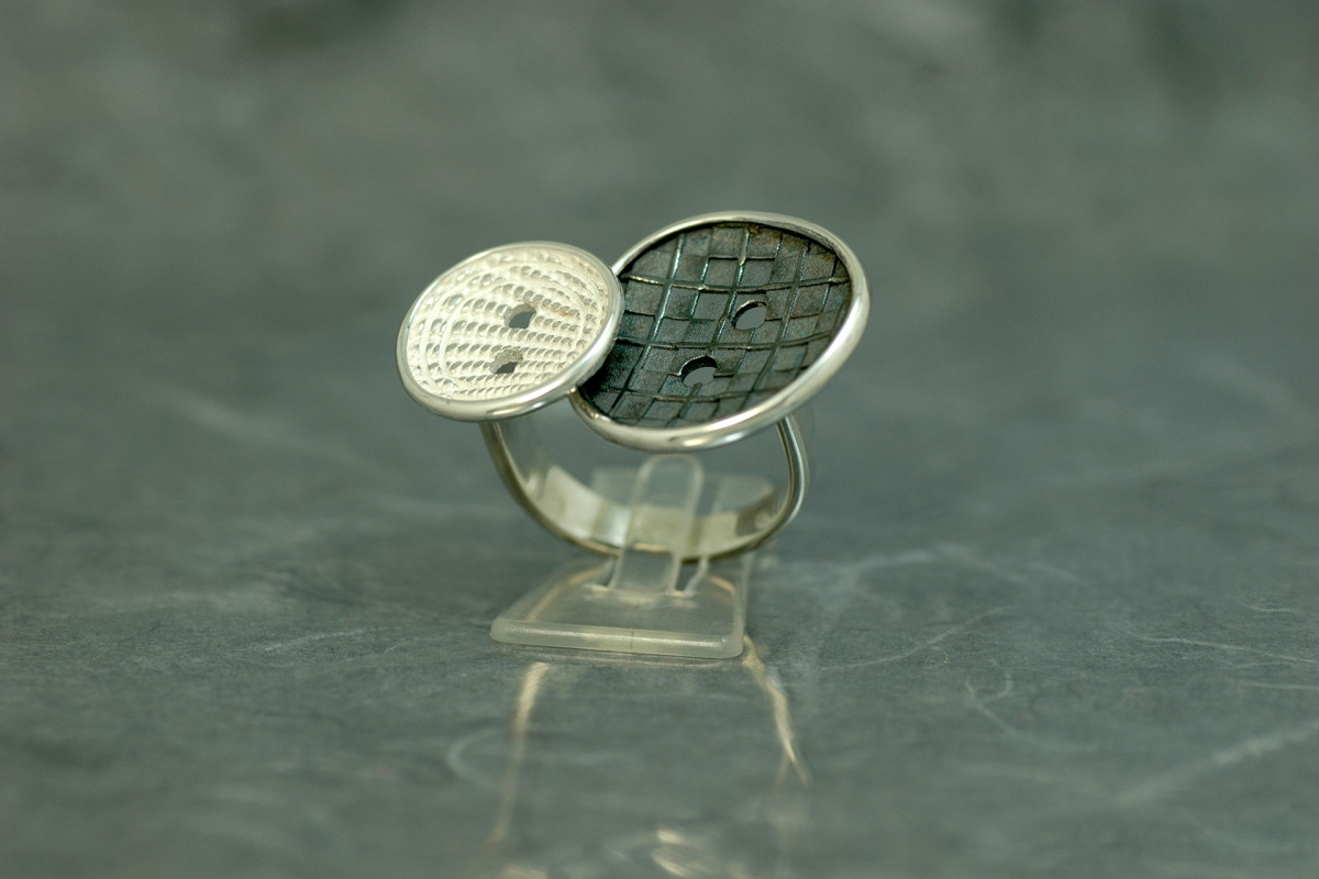 COUTURE - Ring G, with oxidized silver finish