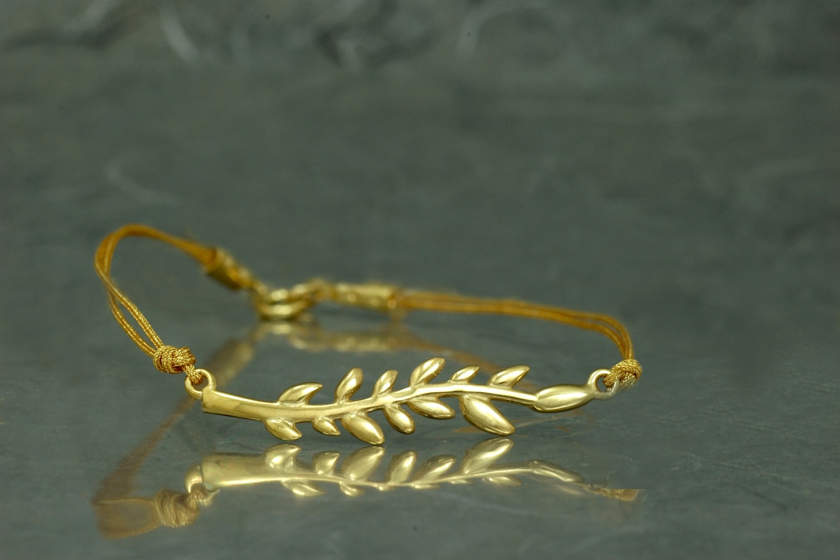 FENTO - Bracelet SSSSG with threads and gold plated