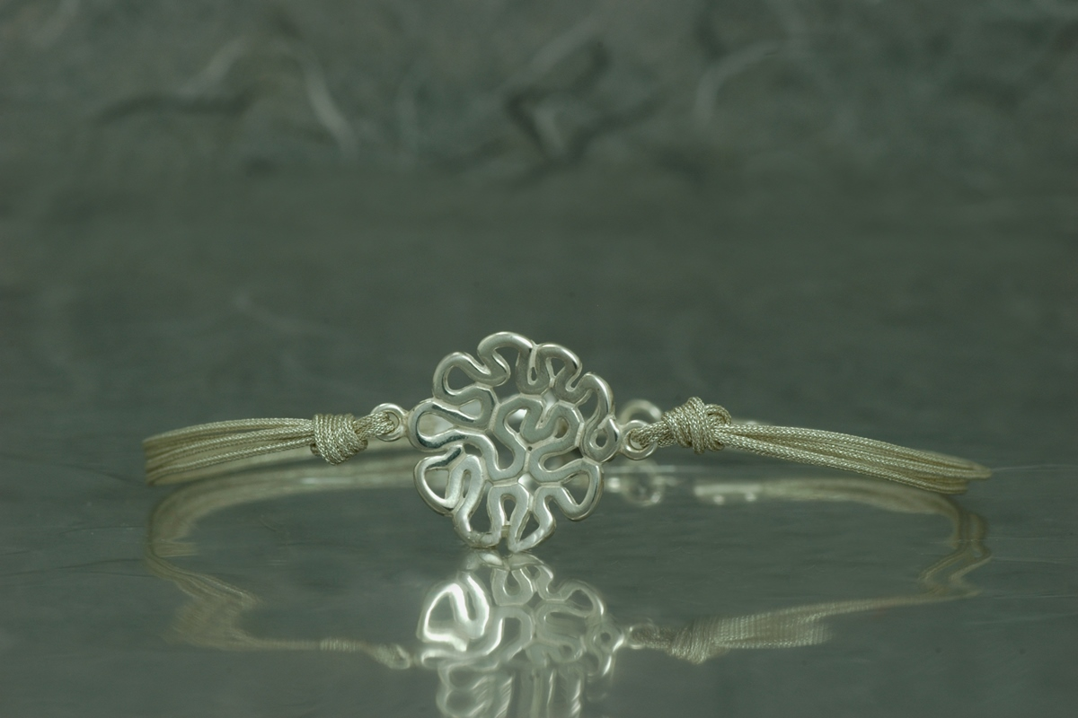 CEST LA VIE - Bracelet with silver threads