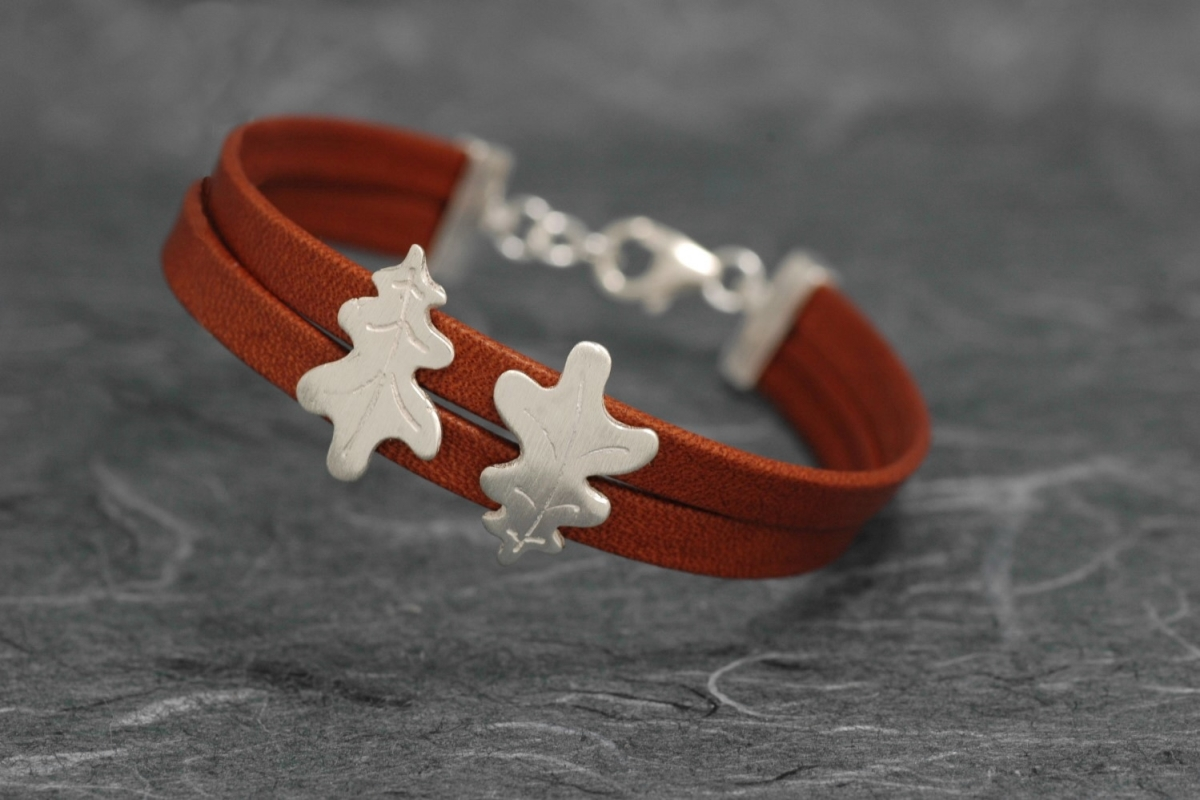 CARBALLO - Bracelet ref. PP with leather and matte finish