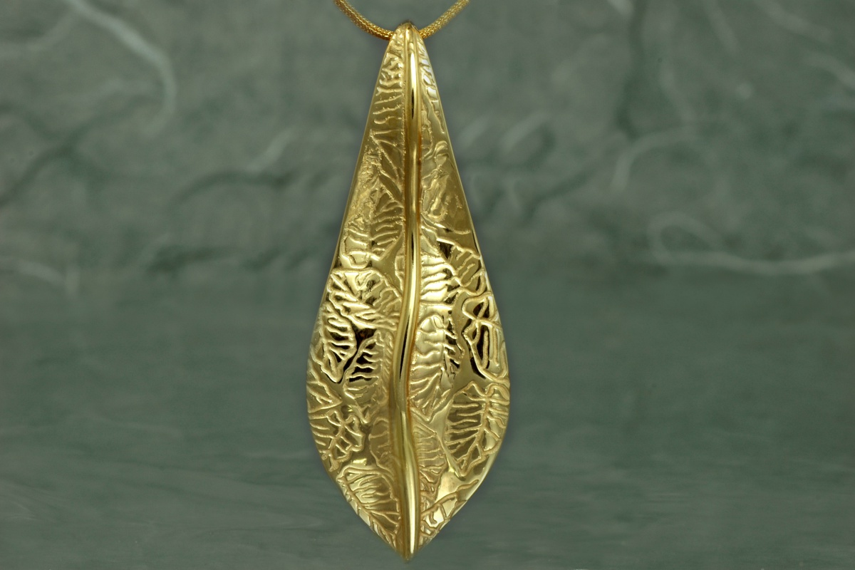NATURA - Pendant SSG, gold plated
