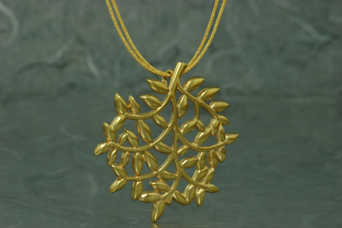 FENTO - Colgante SSG, con acabado chapado en oro