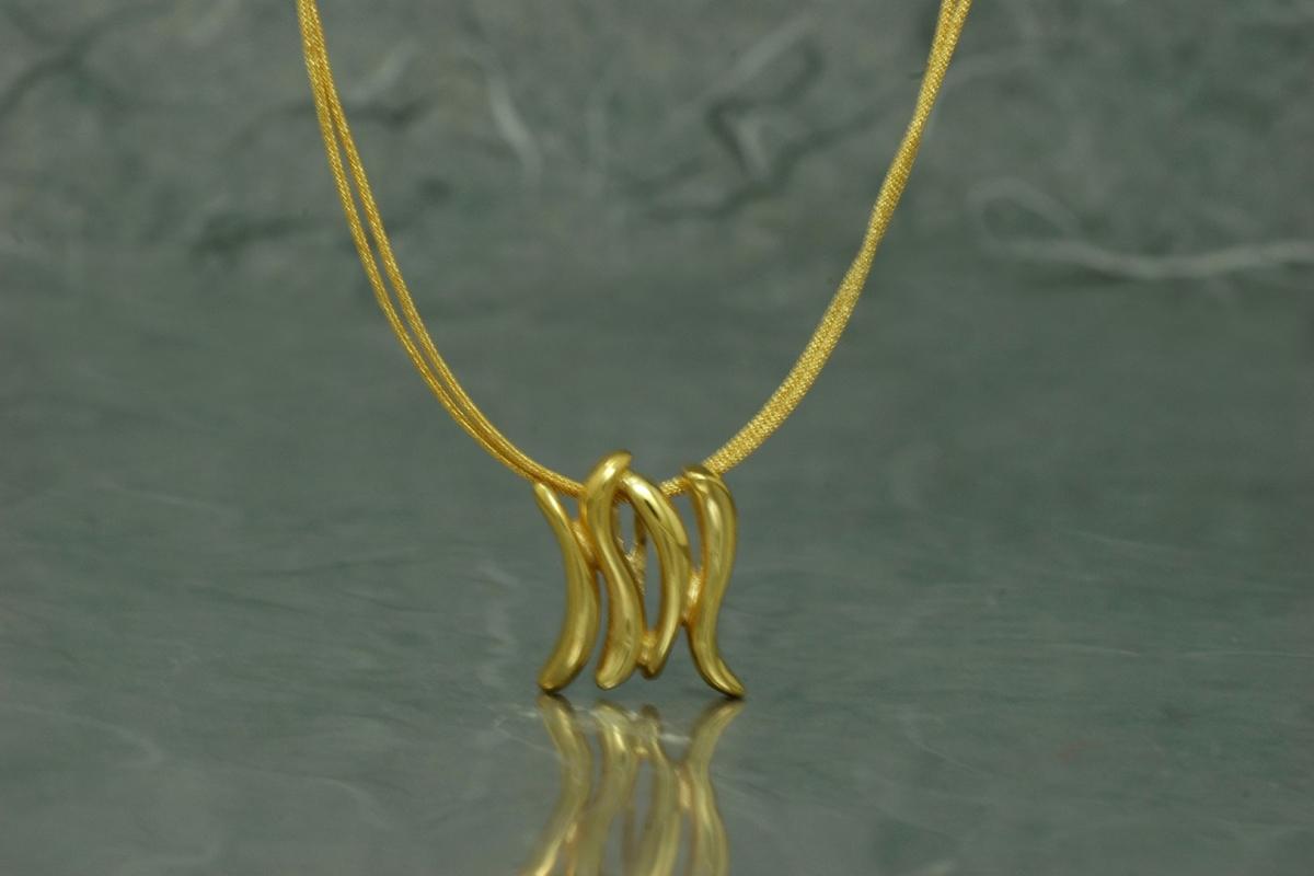 ZIGNUS - Pendant G, gold plated
