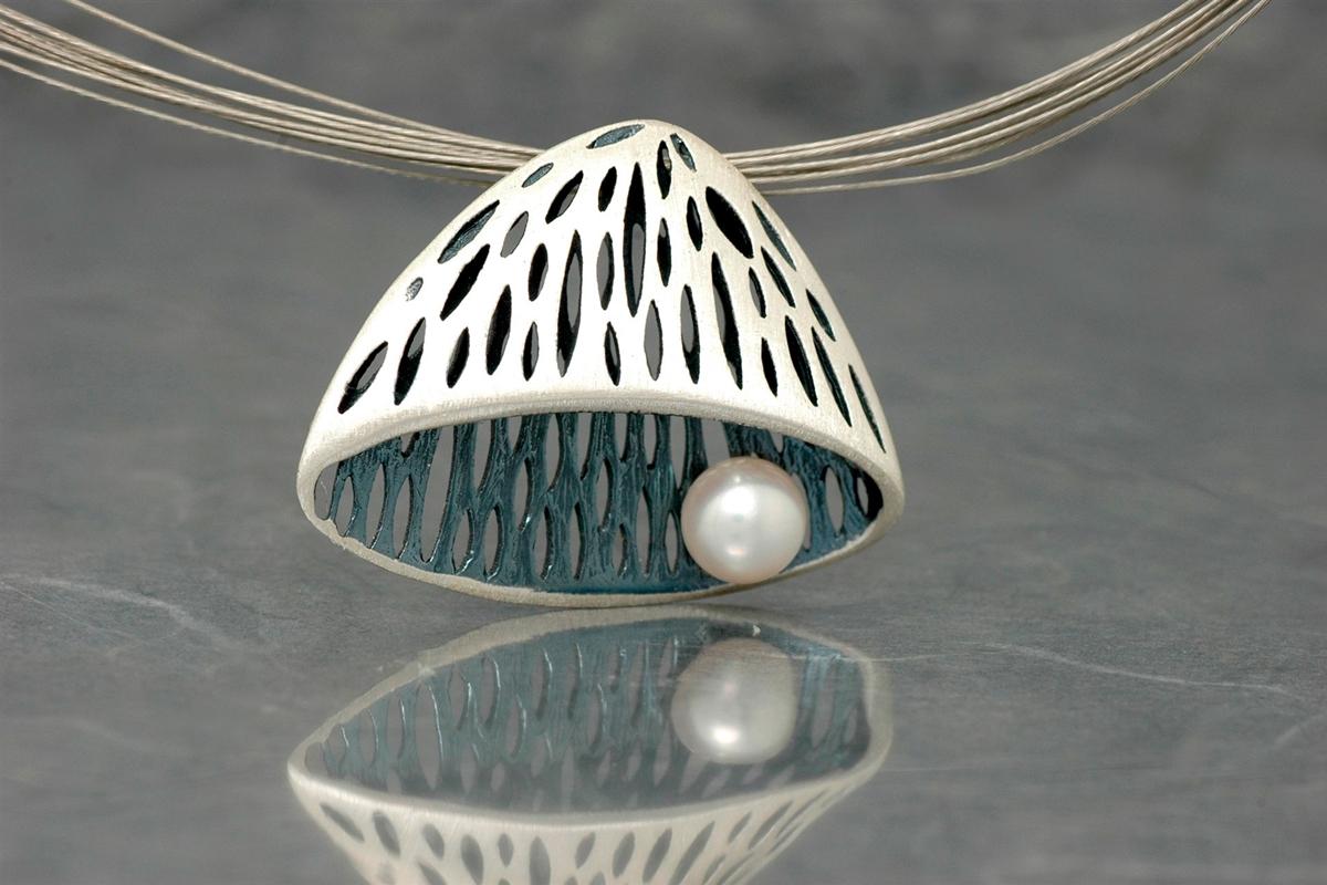 AVATAR - Colgante SSSG, con perla y acabado galvanizado