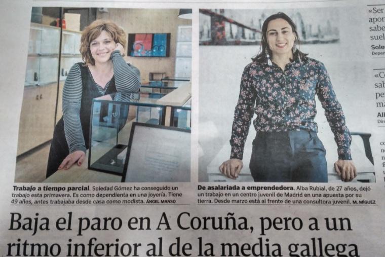 Nuestra compañera, protagonista en La Voz de Galicia
