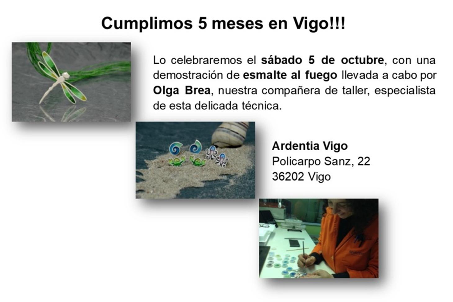 Celebramos nuestros 5 meses en Vigo con una demostración de esmalte al fuego