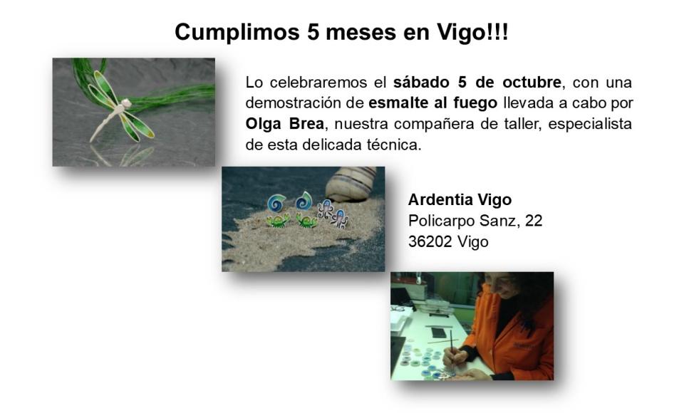 Demostración de esmalte al fuego en Ardentia Vigo