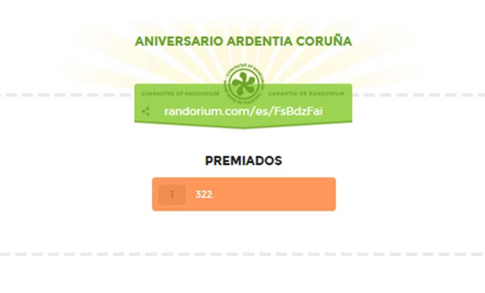 El ticket ganador del colgante en nuestra tienda de Coruña es: