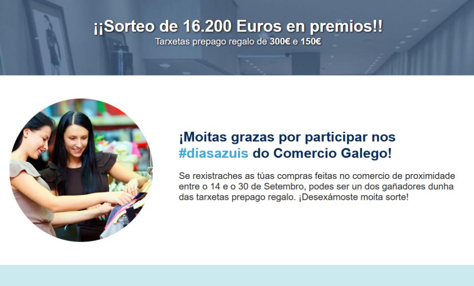 Resultado del sorteo Días Azuis del Comercio Gallego