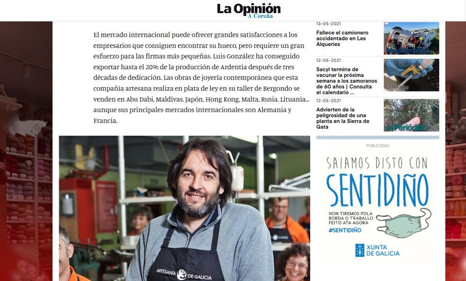 Entrevista de La Opinión Coruña a Luis González