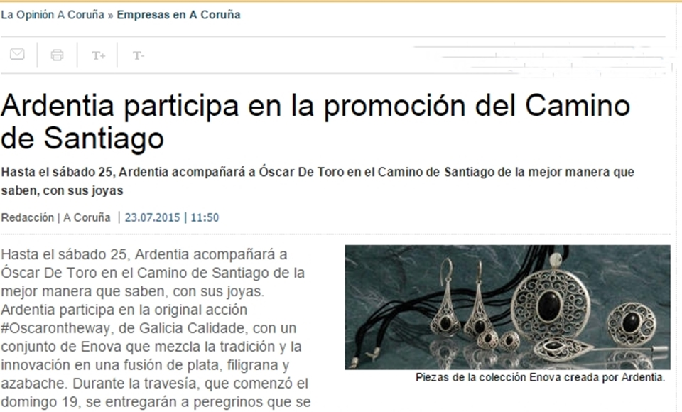 La Opinión Coruña: Ardentia con #Oscarontheway