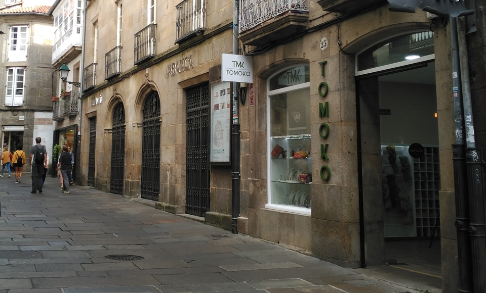 Tomoko en Santiago de Compostela